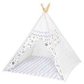 Wooden Play Tent Blue
