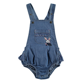 Summer Baby Girl Rabbit Embroidered Romper