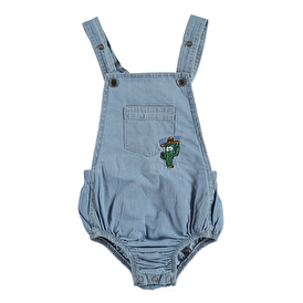Cactus Embroidered Crew-Neck Baby Romper