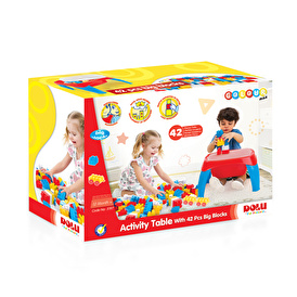 Activity Table with 42 Pieces Big Blocks