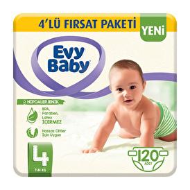 Bebek Bezi 4 Beden Maxi 4'lü Fırsat Paketi 120 Adet