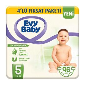 Bebek Bezi 5 Beden Junior 4'lü Fırsat Paketi 96 Adet
