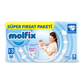 Baby Diapers Size 3 Midi Super Advantage Pack 4-9 kg 86 pcs
