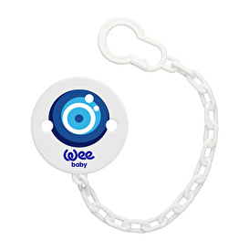Patterned Pacifier Strap - Evil Eye Bead