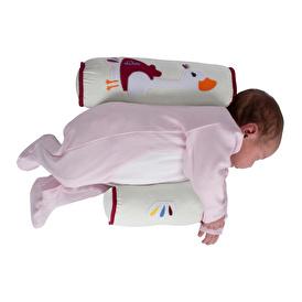 Nakışlı Bebek Güvenli Uyku Yan Yatış Yastığı
