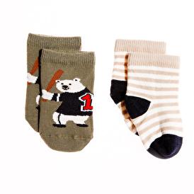 Bebek İkili Baseball Bear Soket