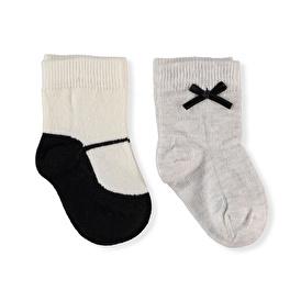 Step Kurdele 2'li Organik Çorap