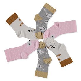 Kedi 3lü Soket Çorap