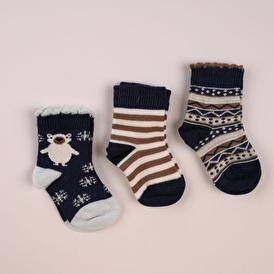 3lü Soket Çorap