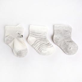 Çizgili 3lü Soket Çorap