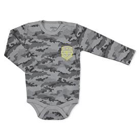 Camouflage Baby Snaps Collar Long Sleeve Bodysuit