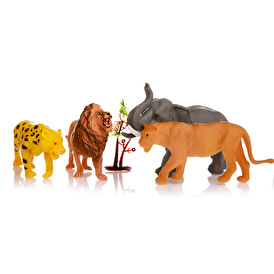 PVC 4'lü Aslanlı Orman Hayvanları