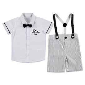 Summer Baby Boy College Shirt Short 2 pcs Set