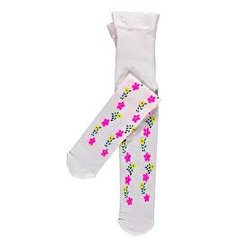 Çiçekli-Işık Baskılı Mus Külotlu Çorap