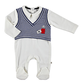 Bebek Mini Süveter Detaylı Patikli Tulum
