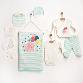 Striped Rabbit Newborn Hospital Pack 10 pcs