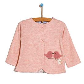 Pink Birds Cardigan