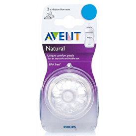 SCF/27 Natural Baby Bottle Nipple 2pcs