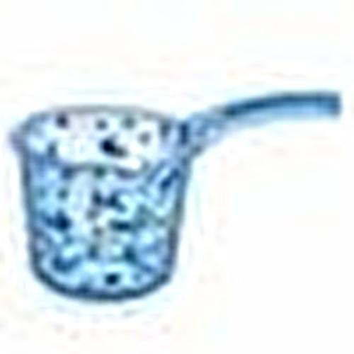 Transparent Patterned Plastic Bath Pitcher 1,25 Litre