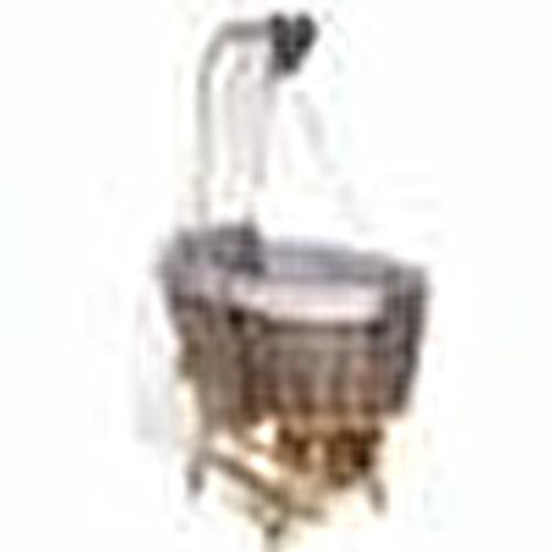 Natural Wood Mother Side Basket Cradle Dark Gray + Bedding Set