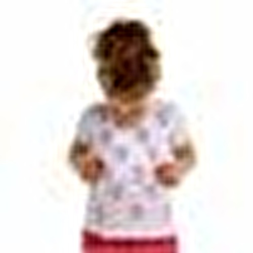 Crew Neck Printed Baby Girl Tshirt