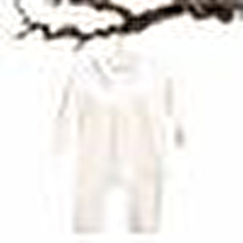 Mary Girl Peter Pan Collar Rib Long Sleeve Romper