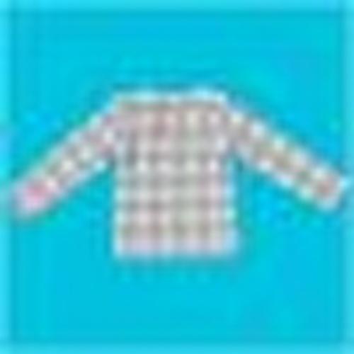 Organik Bebek Ekose Desen Suprem Kumaş Uzun Kollu Tshirt