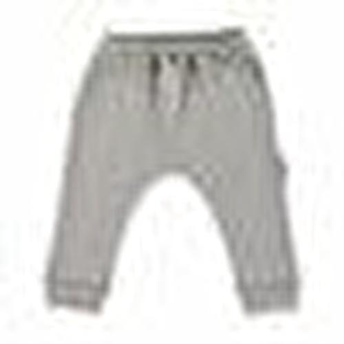 Baby Organic Grey Woollen Rib Pants