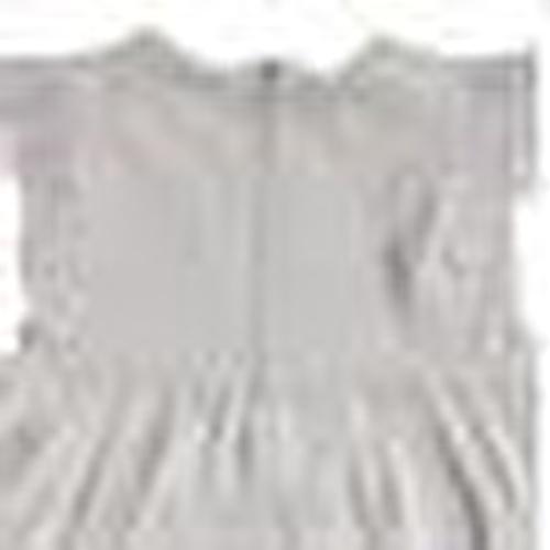 Summer Baby Girl Striped Inlerlock Short Sleeve Crew-Neck Dress