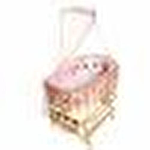 Natural Amedan Mother Side Basket Crib Knit Pink + Bedding Set
