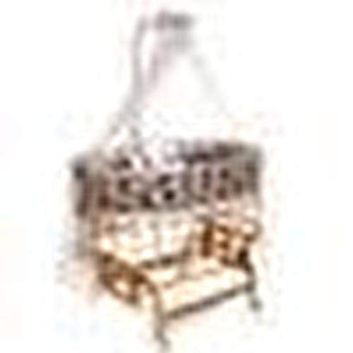 Natural Amedan Mother Side Basket Crib Knit Gray + Bedding Set