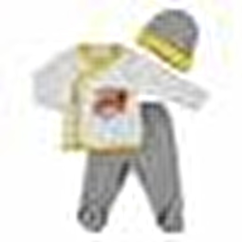 Yaz Erkek Bebek Fire Dept 3lü Zıbın-Şapka-Patikli Alt
