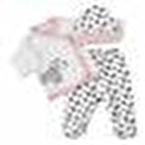 Summer Baby Girl Cute Dogs Bodysuit Hat Pant 3 pcs Set
