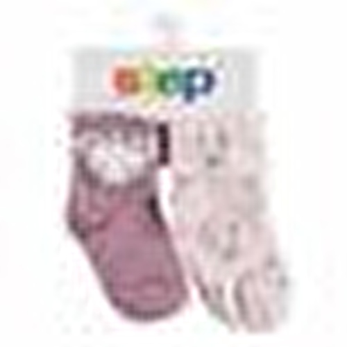 Summer Baby Girl Six Printed Crown Mouse Cotton Socks 2 pcs