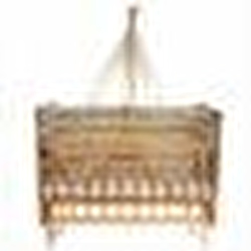 Elyaza Natural Mother Side Elevator Cradle 60x120 cm Yellow Gray + Bedding Set