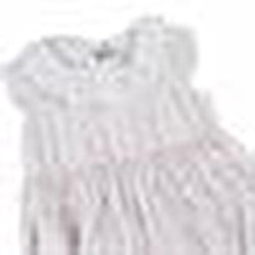 Ruffled Collar Texture Baby Girl Short Romper