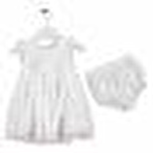 Baby Girl Texture Lacy Detailed Panty Dress