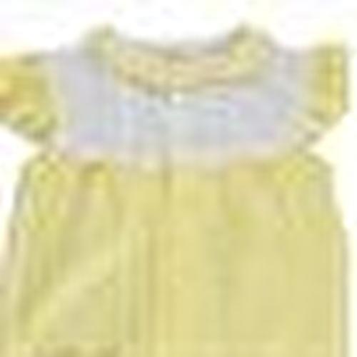 Summer Baby Girl Flower Interlock Short Sleeve Jumpsuit