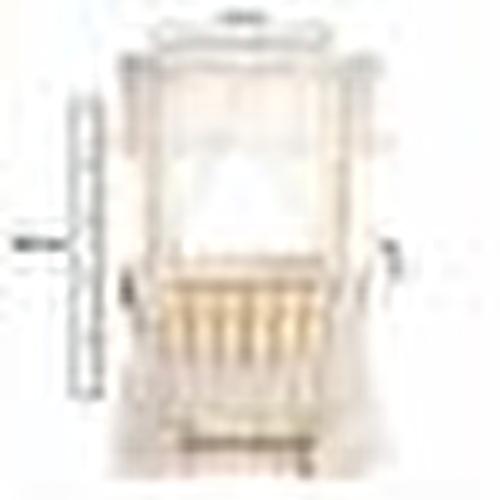 Natural Wooden Mother Side Roofed Basket Cradle + Bedding Set