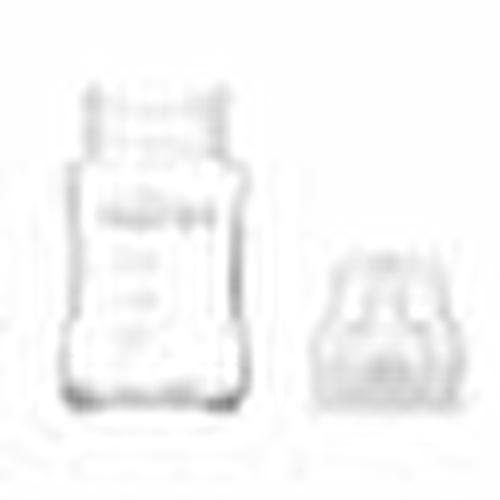 Double Glass Feeding Bottle Set 180 ml + 240 m