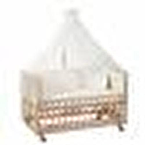 Natural Wooden Baby Crib 70x130 cm