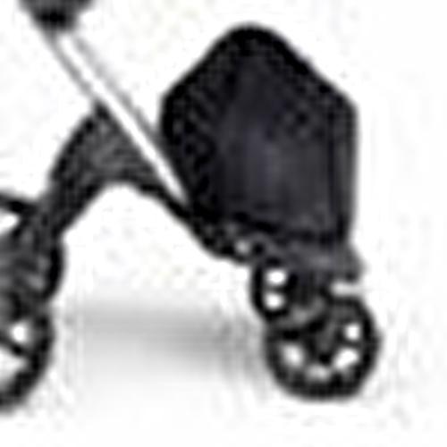 V6 Bebek Arabası Gri Şase Kahverengi Deri Tutma Kollu