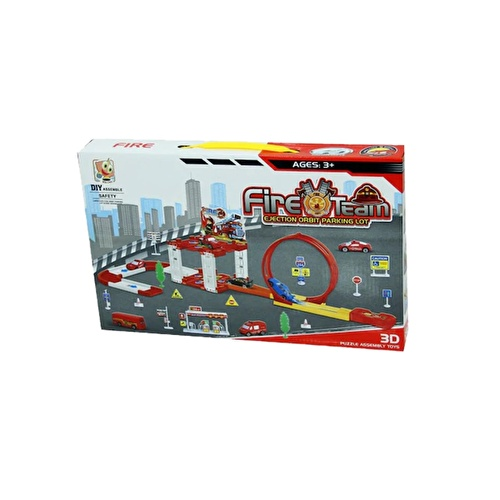 Fire Truck Car Parking Set