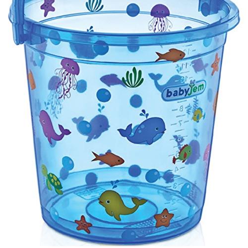 Transparent Patterned Plastic Bath Bucket 14 Litre