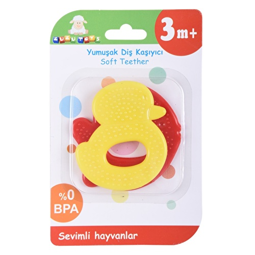 Cute Animals Soft Teether 2 pcs 3 Months+ Assorted