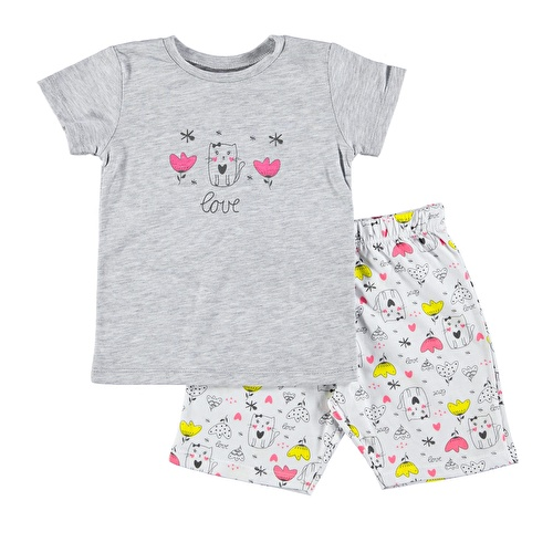 Bow Tie Printed Short Sleeve Baby Girl Pyjamas