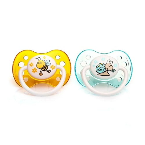 Silicone Soothers 2 pcs 0-6 Months