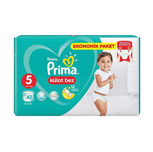 Külot Bebek Bezi 5 Beden Junior Ekonomik Paket 12-17 kg 42 Adet