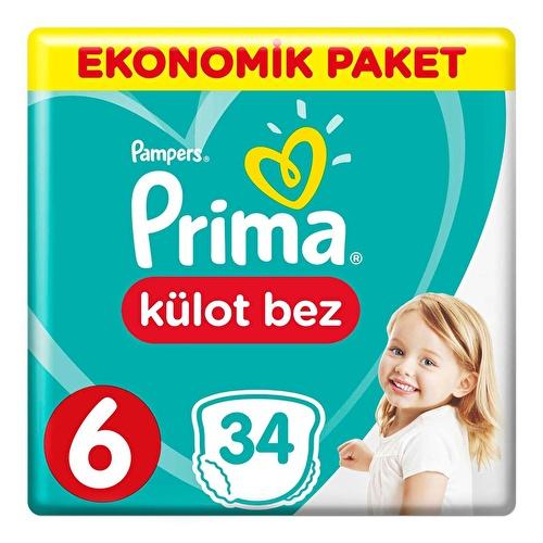 Külot Bebek Bezi 6 Beden Ekstra Large Ekonomik Paket 15+ kg 34 Adet
