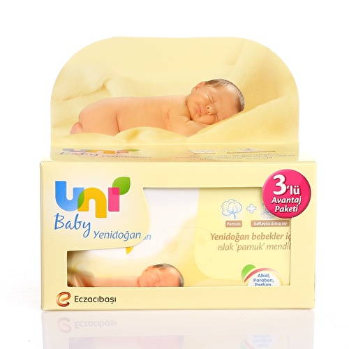 Newborn Baby Wet Cotton Wipes Advantage Value Package 3x40 pcs
